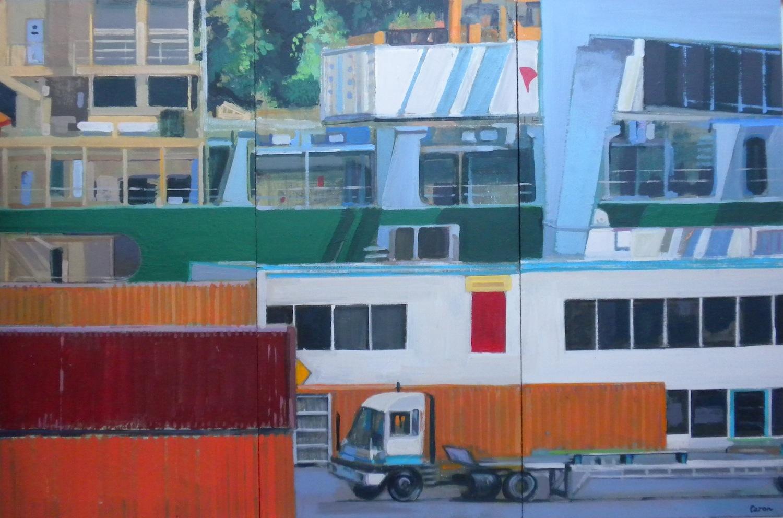 Dockside (Triptych) - Sidonie Caron