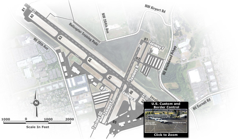 Hillsboro Airport Map