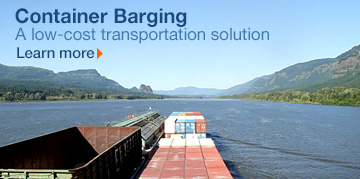 Container Barging. Learn more.