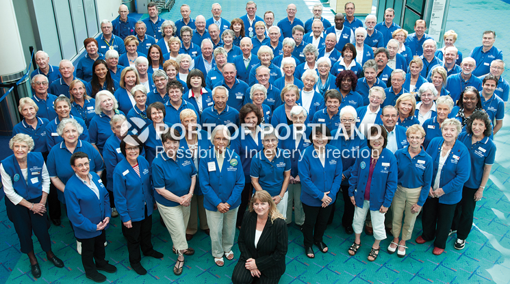 PDX's robust volunteer program is well-served by more than 125 volunteers, known as VIPS, that contribute time and quality service to the airport. Accumulating more than 20,000 hours of service in 2013, the volunteers help raise the bar of customer satisfaction at PDX.