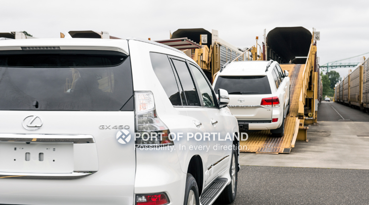 The Port of Portland is an auto gateway, moving both imports and exports through port terminals.