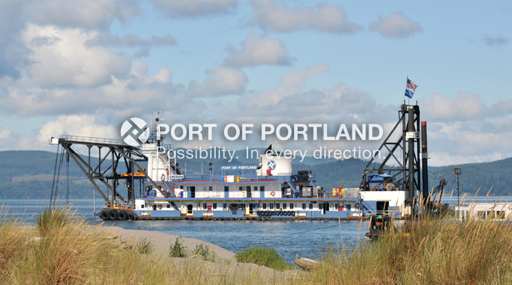 The Dredge Oregon has been the Port's workhorse since it was built in 1965. It is being repowered to increase efficiency and decrease emissions while maintaining the navigation channel.