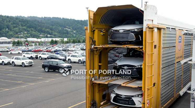 Many imported vehicles make their first stop in Portland before being shipped to dealerships across the region via rail.