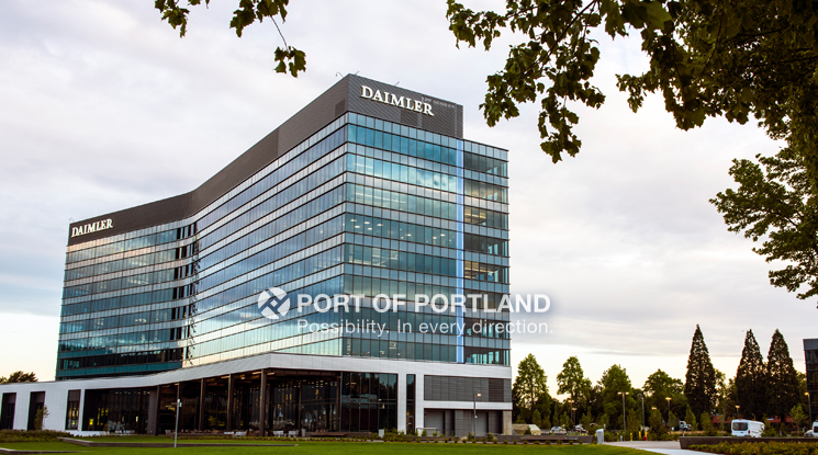 Daimler opened its LEED Platinum headquarters on Swan Island in 2016.