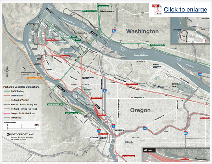 Portland's Local Rail Connections