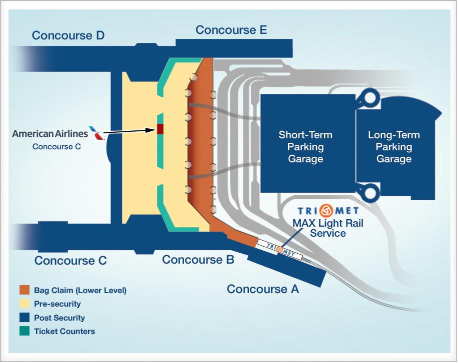 Portland International Airport - Airlines
